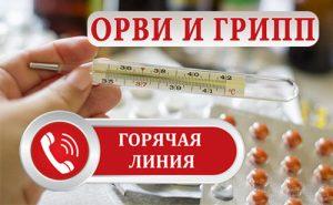 Горячая линия по вопросам профилактики заболеваемости гриппом и ОРВИ